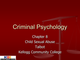Criminal Psychology - Kellogg Community College