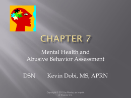 Mental Health Assessment