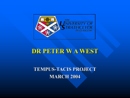 DR PETER W A WEST
