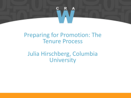 How to Get Promoted - CRA-W
