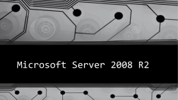 Microsoft Server 2008 R2 - Northeast Wisconsin Technical