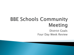 BBE Schools Community Meeting