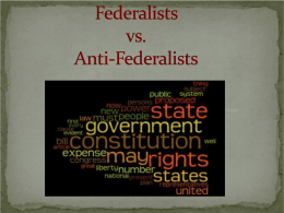 Federalists and Anti