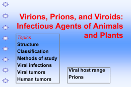 PowerPoint Presentation - Ch14 Virions, Prions, and