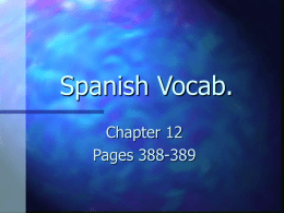Spanish Vocab.