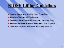 NIOSH Lifting Guidelines