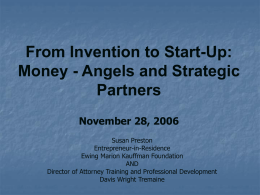 Angel Organizations and Angel Investing: Best Practices