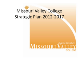 Missouri Valley College Strategic Plan 2012-2017