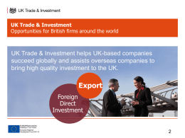 UK Trade & Investment - Ferndown and Uddens BID Ltd