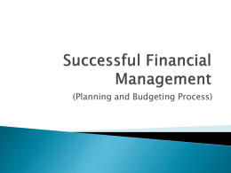 Budget Preparation and Management