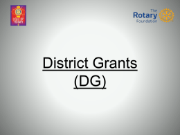 District Simplified - Rotary District 7610