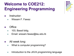 Welcome to COE321: Logic Design