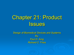 Chapter 20: Product Issues