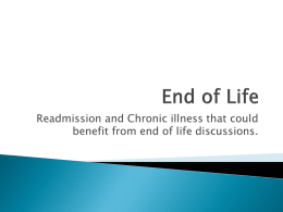 End of Life Readmission and Chronic Illness that Could