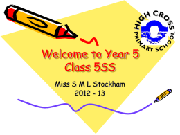 Welcome to Year 6 Class 6SS