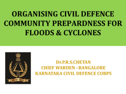 Floods - Welcome to the National Civil Defence College