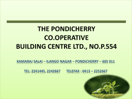 THE PONDICHERRY CO.OPERATIVE BUILDING CENTRE LTD., …