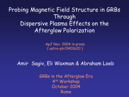 Probing the Magnetic Field Structure in g
