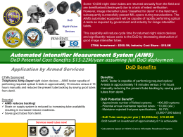 Enhanced Wiring Integrity Systems (EWIS) DoD Potential