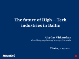 The future of High – Tech industries in Baltic