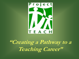 Project TEACH - Green River Community College