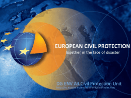 Civil Protection: general - Dipartimento Protezione Civile