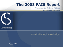 The FAIS Report - Compli