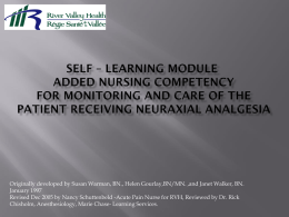 Self-Learning Module Added Nursing Competency Patient