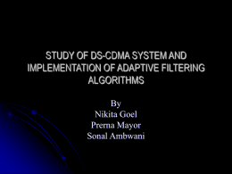 STUDY OF DS-CDMA SYSTEM AND IMPLEMENTATION OF …