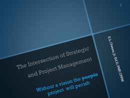 The Intersection of Strategic and Project Management