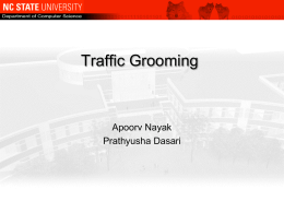 Traffic Grooming - Rudra Dutta, Associate Professor