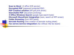 Scan to Word (4 office OCR service) Encrypted PDF