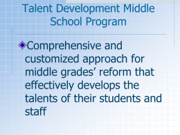 Talent Development Middle School Program