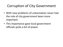 Corruption of City Government