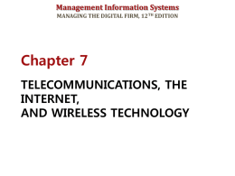TELECOMMUNICATIONS, THE INTERNET, AND WIRELESS …