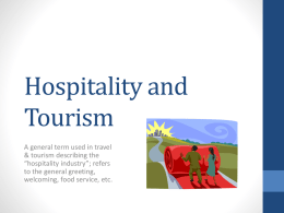Hospitality and Tourism - North Park Secondary School