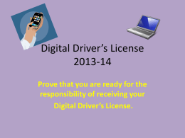 Digital Driver's License - Campbell County Schools