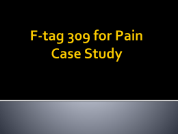 F-tag 309 for Pain With Case Study