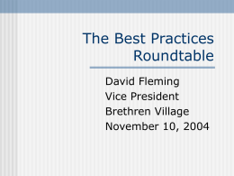 The Best Practices Roundtable