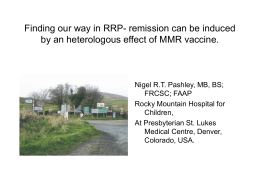 An heterologous effect of MMR vaccine will induce
