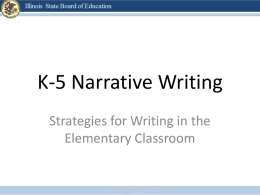 K-5 Writing and CCSS