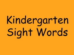 Sight Words - Moline School District No. 40
