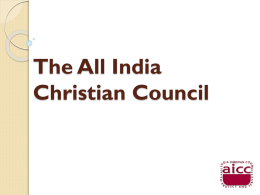 The All India Christian Council