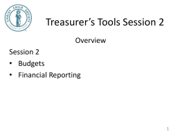 Treasurer's Tools