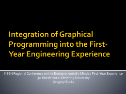 Integration of Graphical Programming into the First