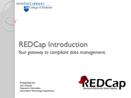 REDCap Training - Pennsylvania State University