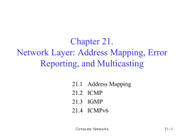 Chapter 20 Network Layer Protocols: ARP, IPv4, ICMPv4