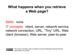 What happens when you request a Web page?