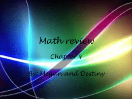 Math review - Hudson Falls Middle School