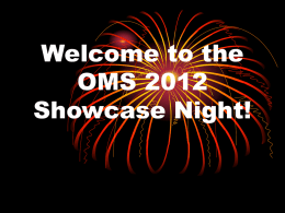 Welcome to the OMS!